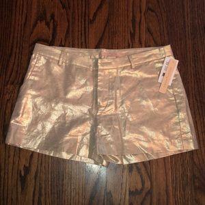 Gibson Latimer Shorts - Gibson & Latimer Metallic Gold Shorts